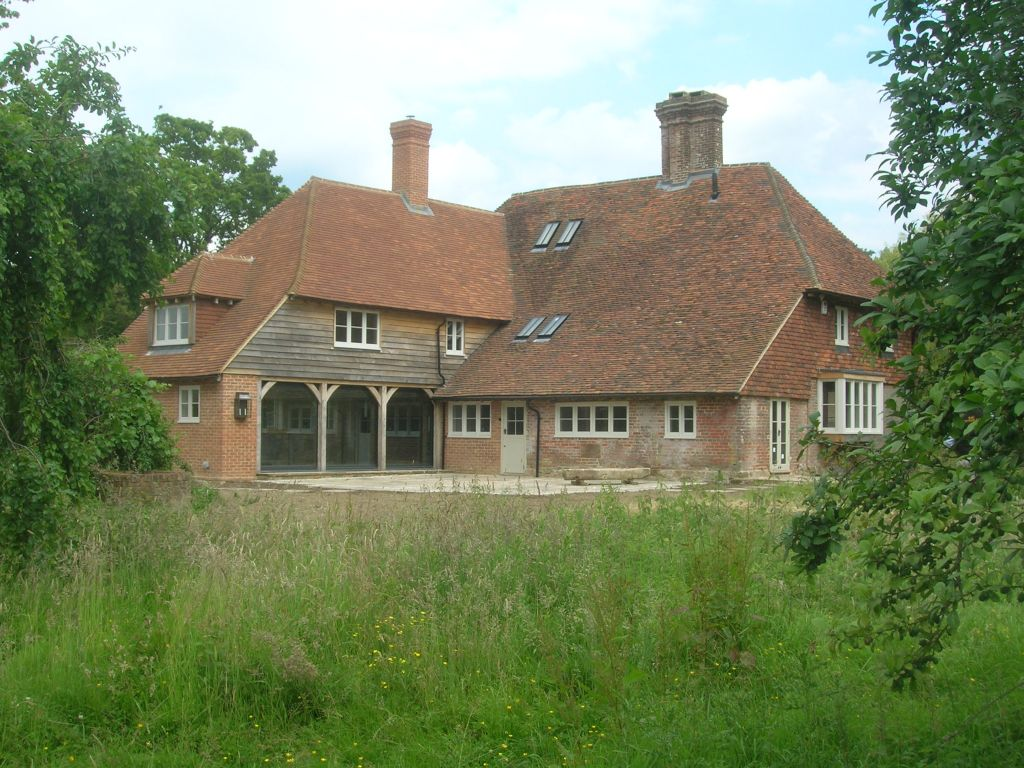 Farmhouse after with rear extension