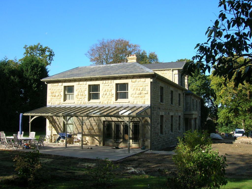 Extension with glass verandah
