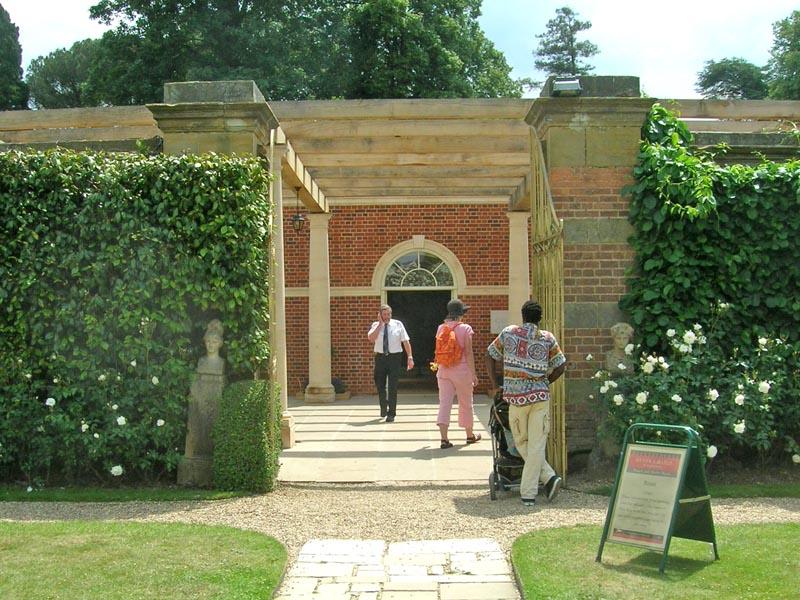 View through from rose garden