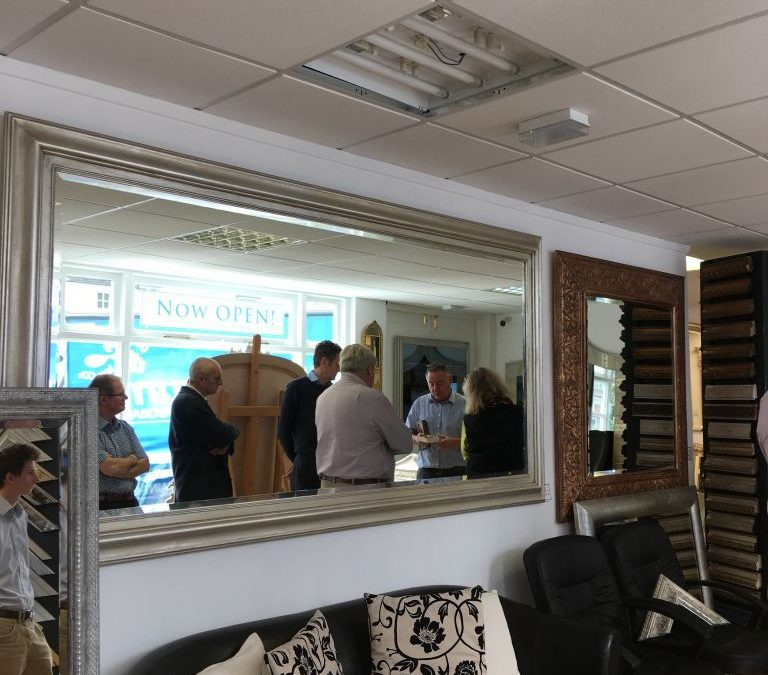 Office visit to Joseph McCarthy mirror and frame makers