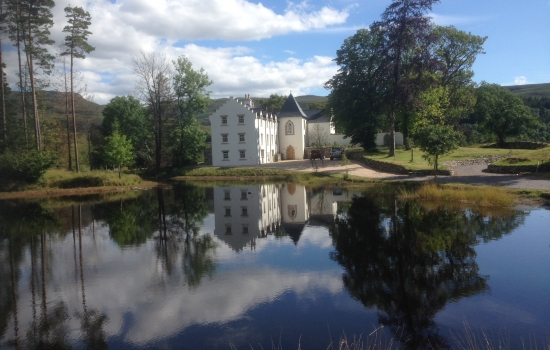 Langwell Lodge and loch