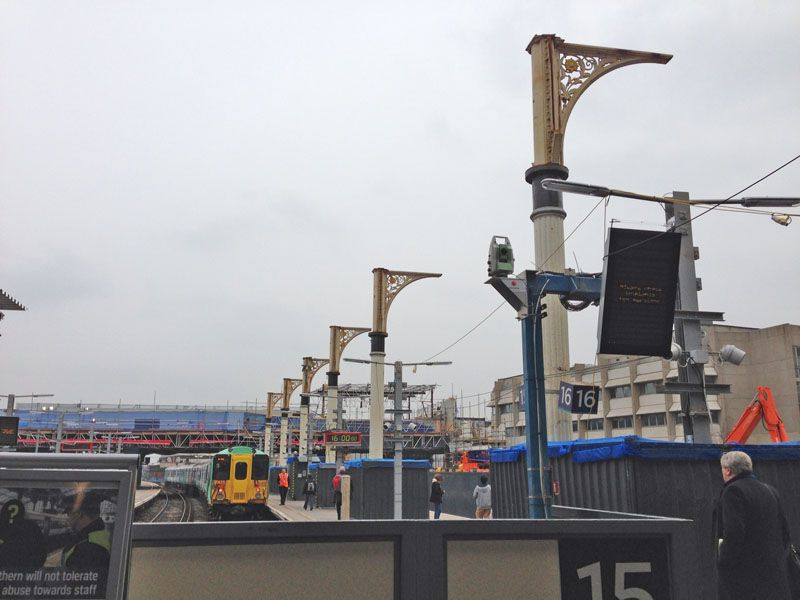 Removing the London Bridge station roof